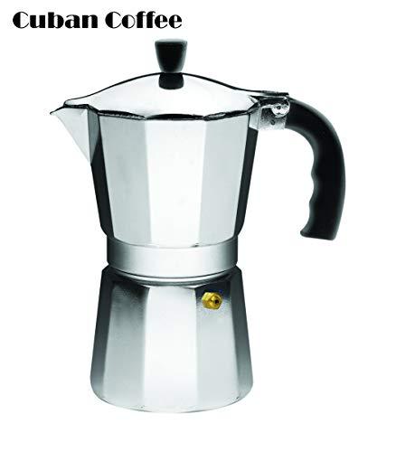 - IMUSA USA B120-43V Aluminum Espresso Stovetop Espresso Maker 6-cup, Silver