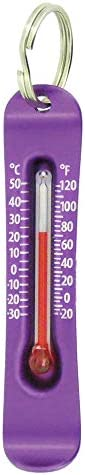Sun Company Brrr-ometer - Snowsport Zipperpull Thermometer | Skiing & Snowboarding Thermometer for Jacket,