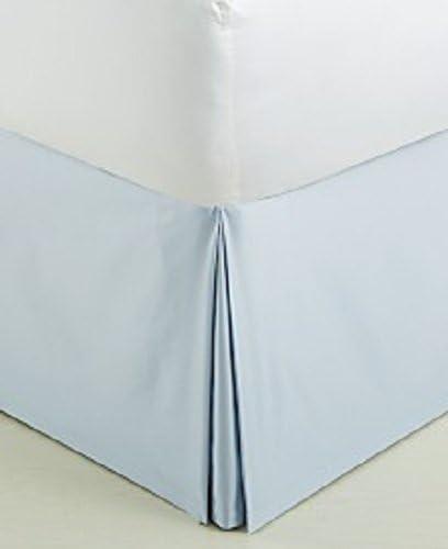 22インチベッドスカート100%エジプト綿400TCソリッドパターン と色。 Twin XL ブルー BED-4286