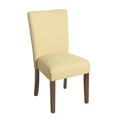 HomePop Parsons Classic Upholstered Accent Dining Chair, Single Pack, Yellow (And Chair Yellow Accent Gray)