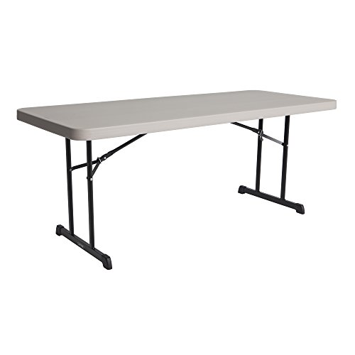 Time Foundation Anti (Lifetime Products 480126 Professional Rectangular Folding Table (4 Pack), 6', Putty)