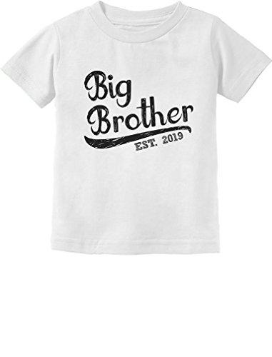 Brother Kids T-shirt - Tstars - Gift for Big Brother 2019 Toddler Kids T-Shirt 4T White
