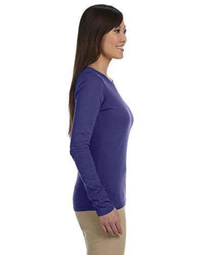 Econscious - Camiseta de manga larga - Asimétrico - para mujer Azul