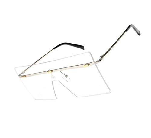 Protección Huyizhi UV400 sol viajar Gafas para Guay exteriores para de Unisex Silver Decoración Gafas Diseño Gafas especial BzBrv