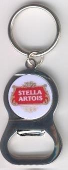 Stella Artois Belgian Bottle Keychain
