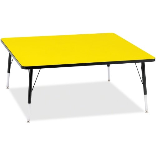Jonti-Craft RidgeLine KYDZ Square Activity Table Yellow