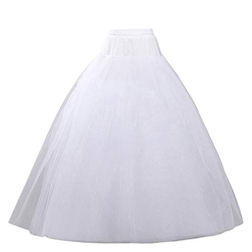Quinceanera Gown New (VeMee Underskirt Petticoat for Dresses Bridal Petticoat Women Crinoline Underskirt Slips for Wedding Ball Gown Dress (White New))