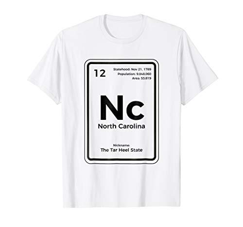 (North Carolina Shirt Periodic Table Tar Heel State T-Shirt)