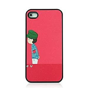Boy Pattern Dull Polish Hard Case for iPhone 4/4S
