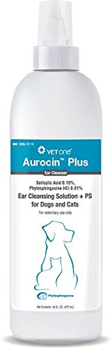 Aurocin Plus Ear Cleansing Solution PS, 16 Ounce Blue
