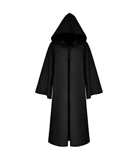 Cos2be Medieval Priest Monk Robe-Hooded Cap Cloak (Medium, Hooded Robe)