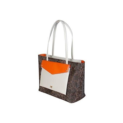 Genuine Class Designer Brown Women Cavalli Handbag EOnx7xYB