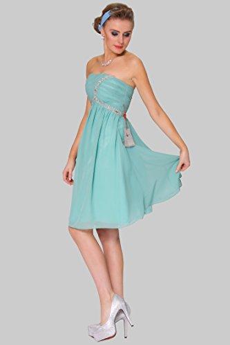 1675 SEXYHER c¨®ctel la de de vestido honor de magn¨ªfico COJ longitud tirantes LightSeaGreen damas rodilla de 114C nT8rTw6Wx