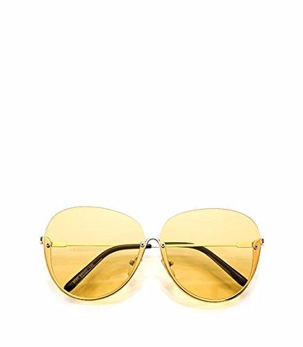 de XIAOGEGE vanguardia gafas Amarillo delgado sol cuadro transparente gafas moda El Rosa video nuevo personalizado de de ningún Or1xOq