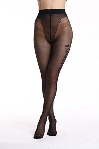 13128 da Collant Donna Sexy Nero Nero AMORETU w4H80qxq