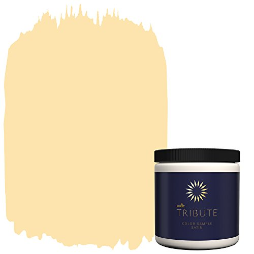 KILZ TRIBUTE Interior Satin Paint & Primer In One,  8-Ounce Sample, Golden Feather (Moore Paint)