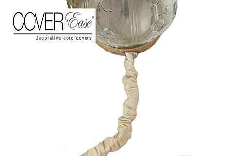 Alabaster Lamp Cord Cover Thin-Stye Faux Silk