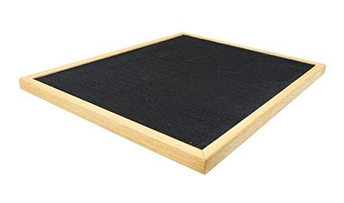 16 x 20 changeable letter board black felt with solid oak frame wall mount canvas bag and. Black Bedroom Furniture Sets. Home Design Ideas