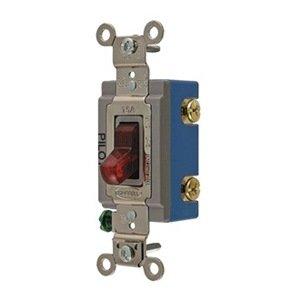 hubbell hbl1203pl pilot light wall switch, switch type 3-way switch wiring backwards hubbell 3 way switch wiring 1 light #12