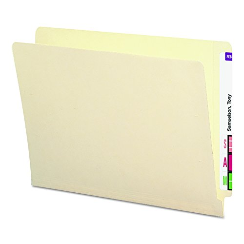(Smead End Tab File Folder with Antimicrobial Product Protection, Shelf-Master Reinforced Straight-Cut Tab, Letter Size, Manila, 100 per Box (24113) )