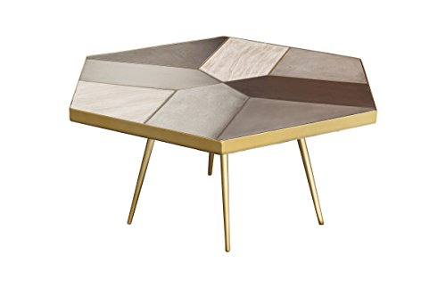 Coffee Table With.Amazon Com Nuevo Giselle Coffee Table With Matte Concrete Oak Top