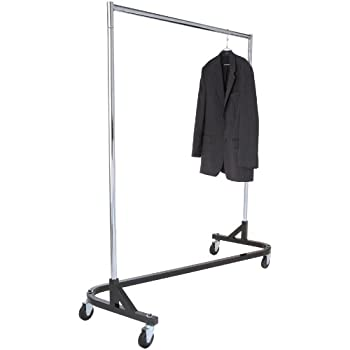 Amazon Com Super Duty Rolling Z Rack Garment Rack With 1