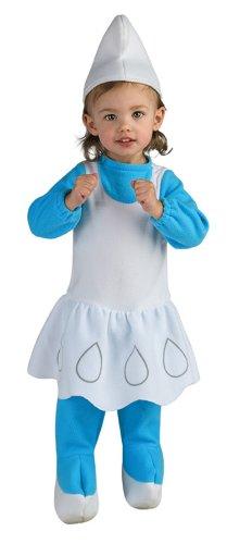 Halloween Costumes Item - Smurfette Newborn Baby Costume -