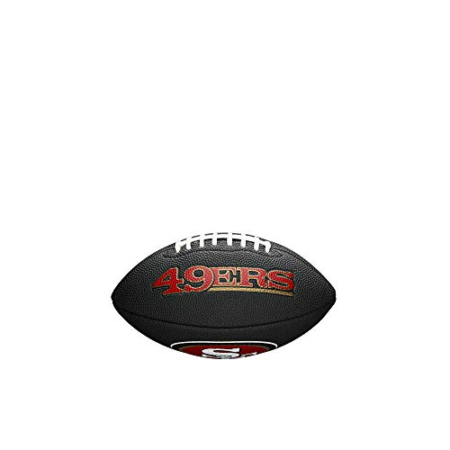 NFL Team Logo Mini Football, Black - San Francisco 49ers
