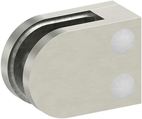Glasklemme Modell 12 Zinkdruckguss Edelstahleffekt f/ür 8,76mm Glas flacher Anschluss