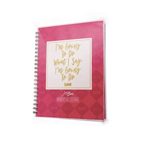 LadyBoss Momentum Journal - Daily Planner and Progress Tracker Pink by LadyBoss