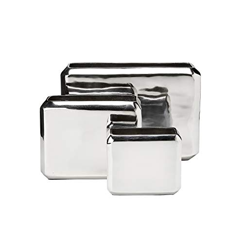 - Overstock Anaheim Silver vase Set of 3