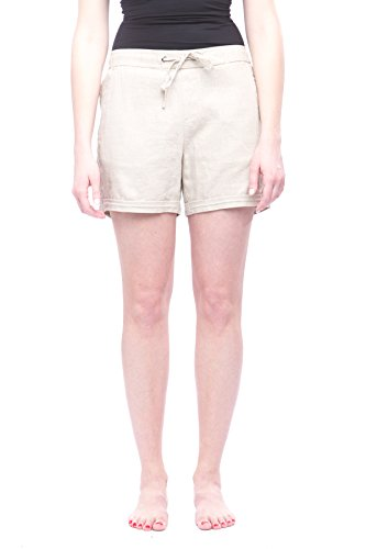 Alkii Missy Womens Linen Shorts With Pockets