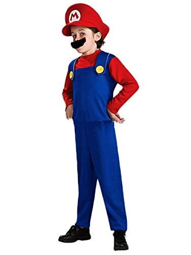 Super Mario Luigi Bros Cosplay Fancy Dress Outfit Costume Unisex Mens Women Adult Kids Teens -