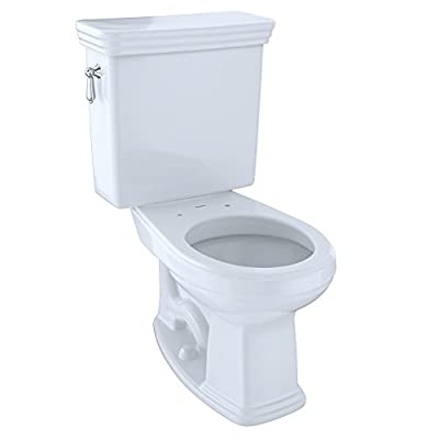 TOTO CST423SFG#01 Promenade 2-Piece G-Max Universal Height Round Toilet with Sanagloss, Cotton White
