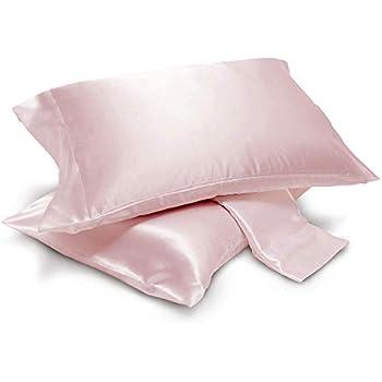 Amazon Com 2 Piece Silky Satin Pillowcases Standard