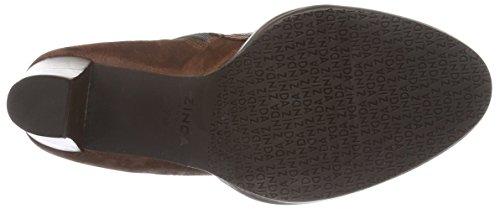 Dames Zinda 2609 Bottes Arbre Court (brun) De Cuero