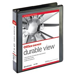 (OfficeMax Durable View Binders with Round Ring 1-1/2
