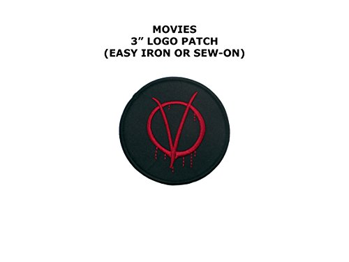 V for Vendetta Guy Fawkes Embroidered Iron/Sew-on Comic Cartoon Theme Logo Patch/Applique - V Alien Costume