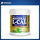 Umeken Mineral L Cal (Large Bottle)- Calcium Enriched with Magnesium, Vitamin D3 and Minerals. Water Soluble and Fast Absorbing. About a 6 month supply. Made in Japan.