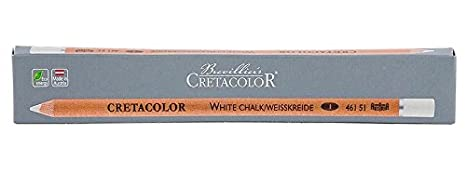 White Soft Cretacolor Chalk Pencil 3pk