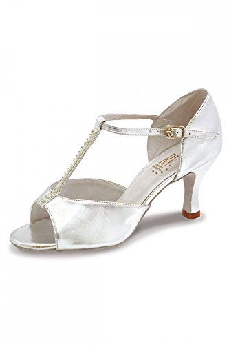 UK Yana 38 EU Damen Schuh Valley Latein Roch 5L Silber 0pq6ww