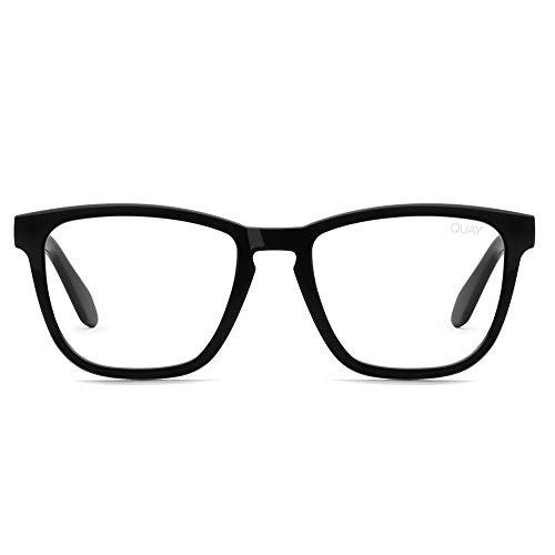 Quay Australia Women's Hardwire Blue Light Glasses (Black/Clear Blue Light Lens, One ()