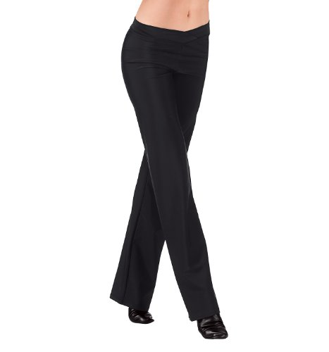 Adult V-Front Jazz Pants,D5107BLKM,Black,Medium - Mens Jazz Pants