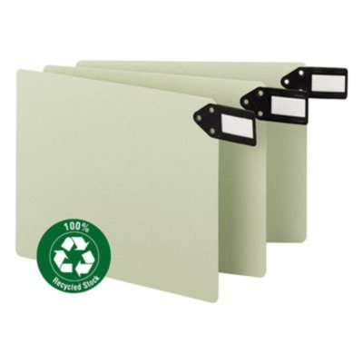 Smead - End Tab Guide,Horizontal Blank,Letter,50/BX,Gray Green, Sold as 1 Box, SMD 61757 by Smead