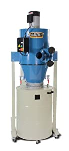 11. Baileigh DC-2100C Cyclone Style Dust Collector, 2111 CFM, 63 gal Drum, 3 hp, 220V, 1 pH