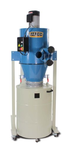 Baileigh DC-2100C Cyclone Style Dust Collector, 2111 CFM, 63 gal Drum, 3 hp, 220V, 1 pH ()