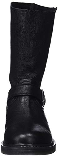 Noir Et Motardes Femme Mamatayoe 001 black Bottines Ofelia Real Bottes Leather Uq7AwEY