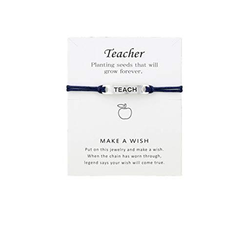 Underleaf Trendy Bangle Jewelry Friendship Teacher Teach Bracelet Teacher's Day - Trendy Jewelry Bangles