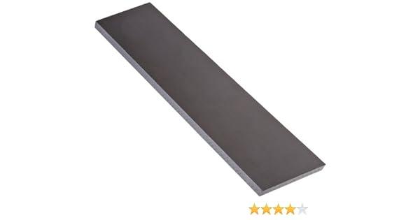 Opaque White 1//4 Thickness 1 Width 1 Length ASTM D6100 Standard Tolerance Acetal Copolymer Rectangular Bar