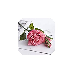 V-K-YA Rose Silk Flower Wedding Artificial Flowers Home Decoration Party Decoration,Rose red 13